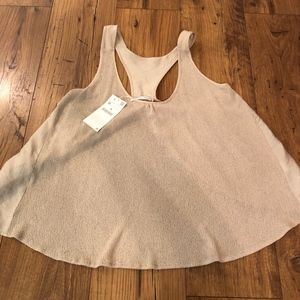 Zara Open Back Sweater Tank